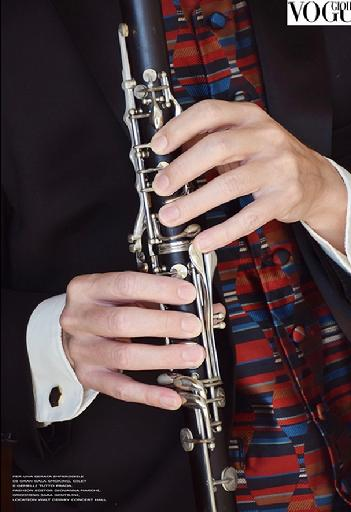 John Michaelson, hand model, clarinet,